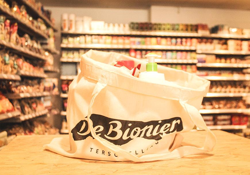 Winkeltas van De Bionier